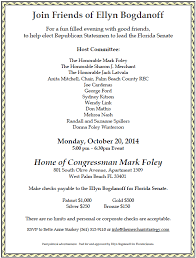 political fundraiser invite in tight florida senate race mark foley hosts fundraiser for
