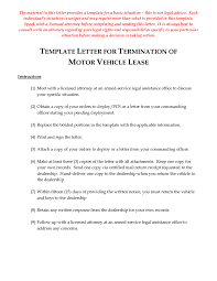 Lease Termination Letter Sample Lease Termination Letter Template