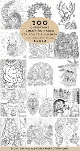 Drawn with different styles and difficulty levels. 100 Christmas Coloring Pages For Adults And Children Dreams Factory