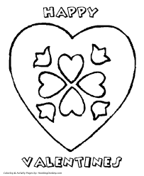 Small Picture Valentines Day Hearts Coloring Pages A Happy Valentine Heart