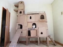diy cardboard box cat house cardboard beds diy cardboard cat house plans