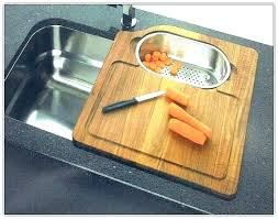 sink cover cutting board kitchen with and insert 68 elkay capable