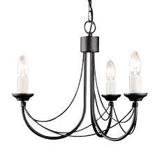 elstead carisbrooke 3 light chandelier black