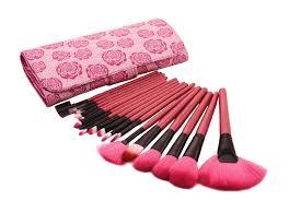 get ations uk warehouse professional 18pcs rose red cosmetic makeup brush kit brand makeup brushes set make up