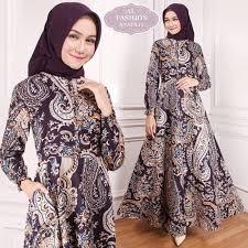 Gamis polos model kekinian moana. Maxi Anaya 15 Batik Baju Muslim Wanita Gamis Model Kekinian Terbaru Shopee Indonesia