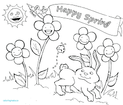 Spring Coloring Pages New Within Springtime Free Printable Pdf
