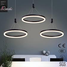 modern led circle black white acrylic