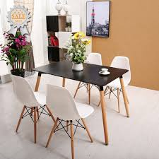 rectangular wood dining table 120 80 cm 4