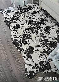 make a faux cowhide rug for under 50 the diy mommy regarding fake decor 17