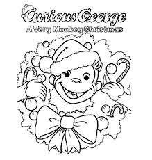 28 collection of curious george coloring pages