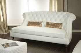 aico mia bella damario white gold leather tufted sofa mb dmrio15 wht 99