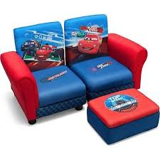 disney cars bedroom furniture. lightning mcqueen disney cars sofa \u0026 ottoman kids toddler bedroom furniture w