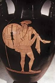 Photograph A Spartan warrior is depicted on an ancient Greek vase  dating from around Kids Britannica