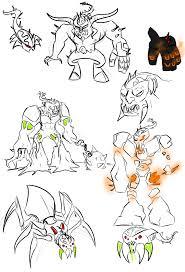 Brain Attack Villain Doodles by Kalhiki on DeviantArt