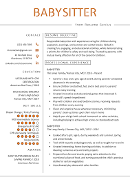 Babysitter Bio Example Babysitter Resume Example Writing Guide Resume Genius