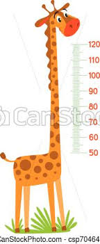 Giraffe Meter Wall Or Height Chart Or Wall Sticker