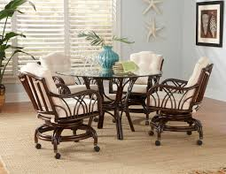 livingroom marvelous dinette sets with caster chairs dining rolling room wheeled kitchen table roller wheel