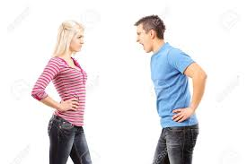 Image result for man shouting at a woman
