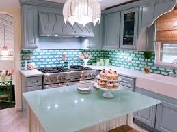 Colorful Kitchen Backsplashes 24 Interesting Kitchen Countertop Ideas With Popular Countertop