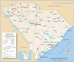 reference map of south carolina usa  nations online project