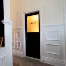 school bathroom door. Hall With Antique Black Bathroom Door School