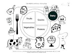 Healthy Foods Printable Coloring Sheets Coloring Pages For Kids