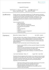 Sales Accountant Sample Resume