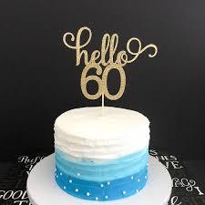 60th Birthday Cupcake Decorations 10 Cupcakes Designs Photo Idea 736
