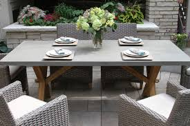 outdoor rectangular dining table. TNA7936 - Composite Rectangle Dining Table With Trestle Teak Base Outdoor Rectangular