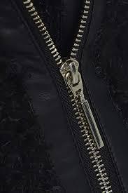 kawai black women s faux leather biker coat with faux fur black sizes 8