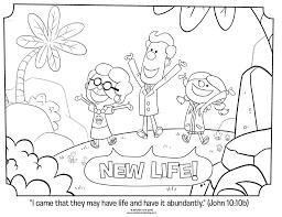 New Life John 10 10b Coloring