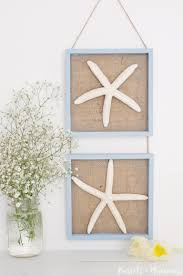 diy starfish and burlap wall decor via pastelsandmacarons com
