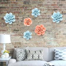 ceramic flower wall decor three dimensional ceramic flowers wall decoration bedroom wall hangings living room style ceramic flower wall decor
