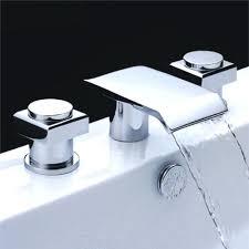 bathtub waterfall faucet chrome finish double handle waterfall bathtub faucet waterfall bathtub faucet wall mount roman bathtub waterfall faucet