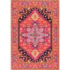 fancy persian vonda pink 5 ft x 7 ft area rug