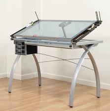 glass top office desk modern. Modern Glass Computer Desk Drawing Top Office