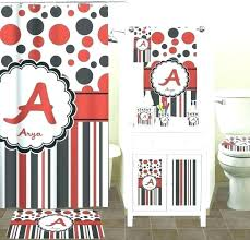 red bathroom rug and black sets set elegant white mat of home bath rooms picture classic red and black bathroom
