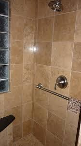 Tile In Bathroom Travertine Vs Porcelain Tile