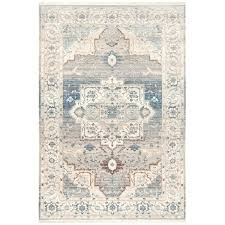 safavieh evoke vintage oriental light blue ivory rug 6 x 9 in gray and l