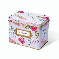 Decorative Recipe Box Amazon Jot Mark Recipe Card Complete Gift Box Decorative 13