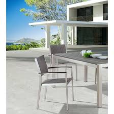 aluminum dining set outdoor furniture modern aluminum grey outdoor dining set with woven arm chairs set