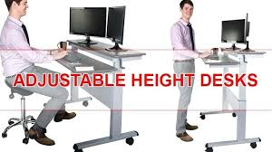 best height for computer desk adjustable height computer desk sit stand
