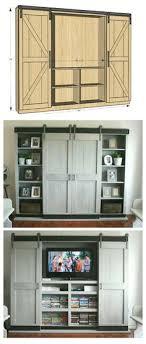 tv kast. ana white | sliding door cabinet for tv - diy projects tv kast l