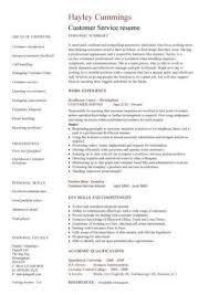 Customer Service Resume Templates Skills Customer Services