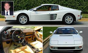 Jordan belfort's white 1991 ferrari testarossa has just 8,000 miles on. White Ferrari Testarossa Once Owned By The Real Wolf Of Wall Street Goes Up For Sale Daily Mail Online