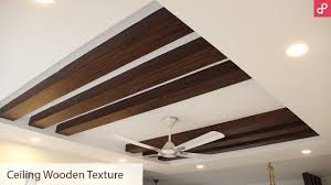 wooden pop false ceiling rafter design for living room aapkapainter