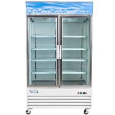 115 volts avantco gdc 40f hc 49 1 4 inch white swing glass door merchandiser