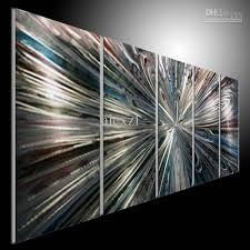 2018 metal modern abstract art painting art sculpture decor original art line blue blank from alexzl 114 23 dhgate com