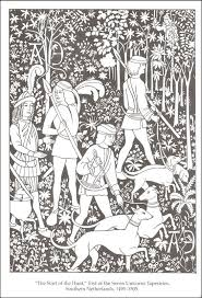 Medieval Tapestries Coloring Book Coloring Pages Medieval