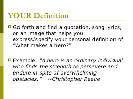 definition essay of a hero